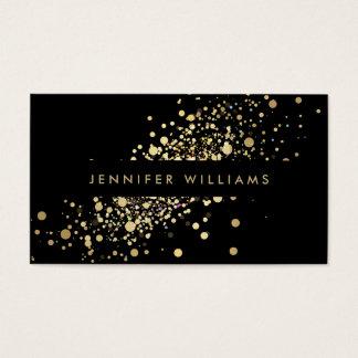 Les confettis d'or de Faux pointillent Cartes De Visite