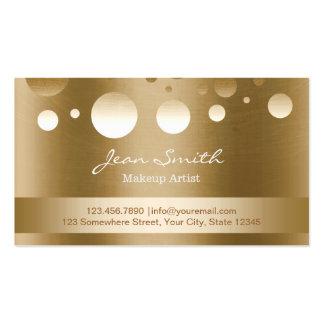 Les confettis modernes d'or pointillent le maquill cartes de visite personnelles