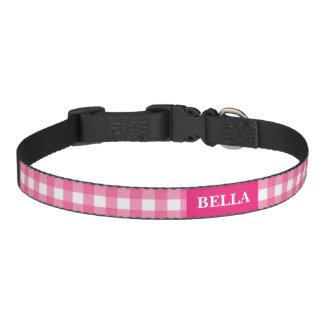 Les contrôles dentellent le collier nommé fait sur collier pour chien
