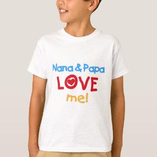 Les couleurs primaires Nana et le papa m'aiment T-shirt