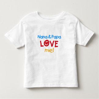 Les couleurs primaires Nana et le papa m'aiment T-shirt Pour Les Tous Petits