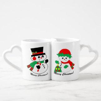 Les couples du bonhomme de neige - mariez la tasse