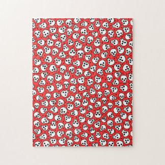 Les crânes sur l'arrière - plan rouge 11x14 puzzle