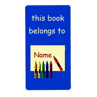 Les crayons colorent mon étiquette nommé