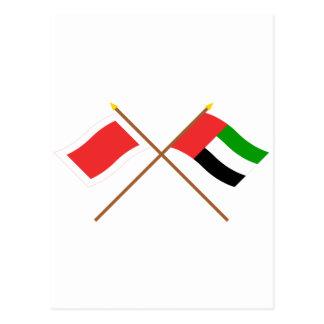 Les EAU et drapeaux croisés par Ras al-Khaimah Carte Postale