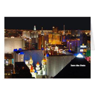 Les économies de Las Vegas la carte de date,