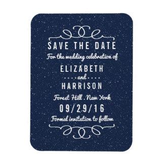 Les économies de mariage de nuit étoilée la date magnets souples