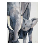 Les éléphants (art de Kimberly Turnbull) Affiche