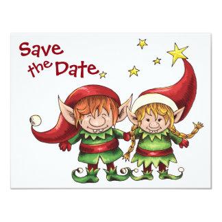 Les elfes de Noël sauvent le faire-part de mariage