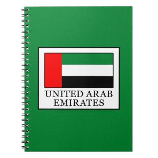Les Emirats Arabes Unis Carnet À Spirale