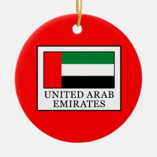 Les Emirats Arabes Unis Ornement Rond En Céramique