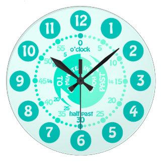 Les enfants apprennent à dire l'horloge murale grande horloge ronde