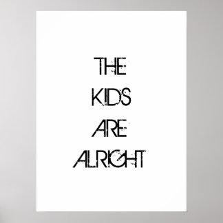 Les enfants sont bien affiche de typographie