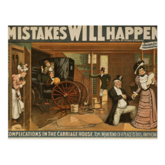 Les erreurs se produiront carte postale