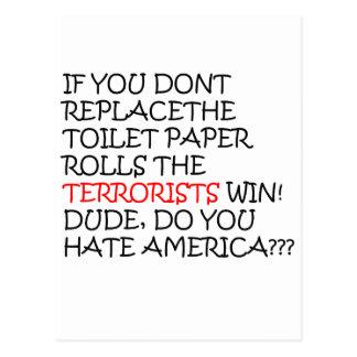 les Etats-Unis Carte Postale