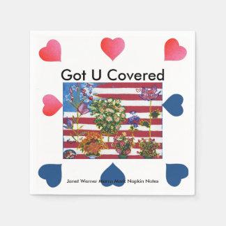 Les Etats-Unis drapeau serviettes de papier du 4 Serviettes En Papier