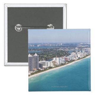 Les Etats-Unis, la Floride, Miami, paysage urbain  Badge Carré 5 Cm