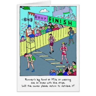 Les félicitations cardent pour le Marathoner - la Carte