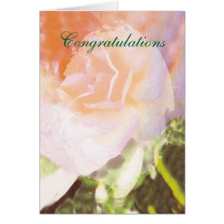 Les félicitations se sont levées carte de vœux
