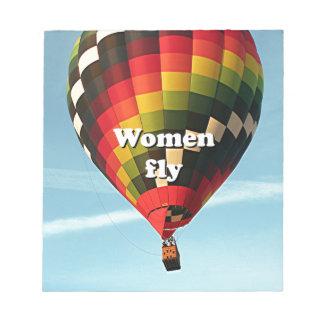 Les femmes volent : ballon à air chaud blocs notes