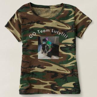 Les femmes vont chemise de Lucy Camo d'ÉQUIPE T-shirt