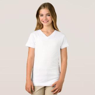 Les filles affinent le T-shirt de V-Cou du Jersey