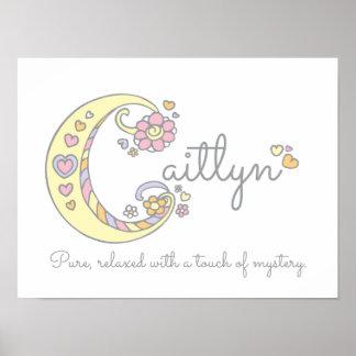 Les filles de Caitlyn d'art de monogramme de C Poster
