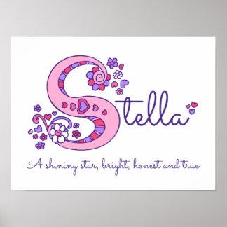 Les filles de Stella d'art de monogramme de S Poster