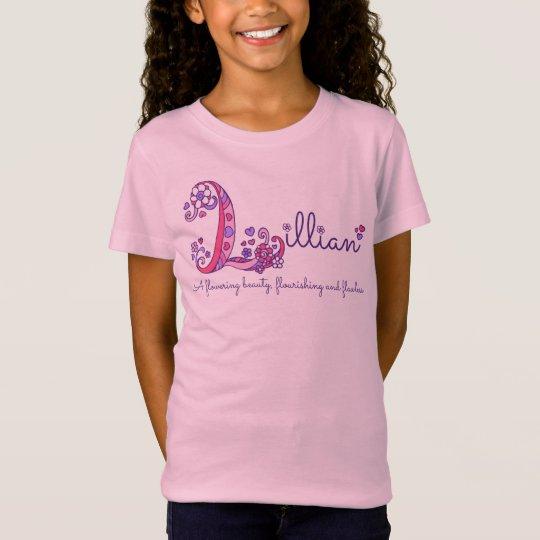 Les filles L monogramme nommé de Lillian de T-Shirt