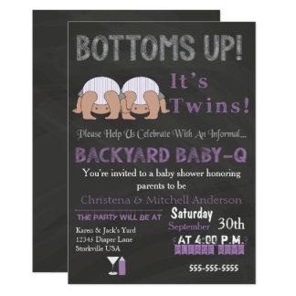 Les fonds lèvent l'invitation de baby shower de carton d'invitation  12,7 cm x 17,78 cm