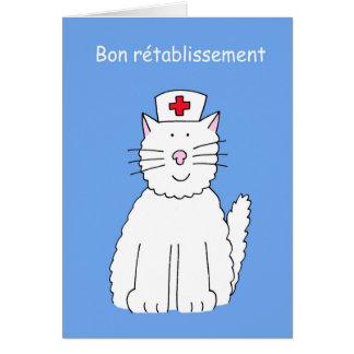 Les Français obtiennent bientôt le chat bon, la Carte De Vœux