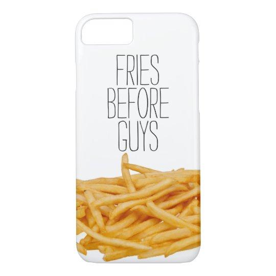 Les fritures drôles avant hippie de types câlinent coque iPhone 7
