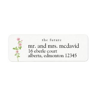 Les futurs étiquettes de adresse de M. et de Mme