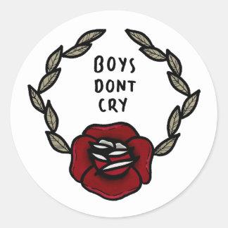 """Les """"garçons ne pleurent pas"""" des autocollants"""