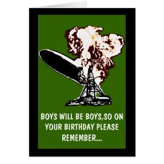 Les garçons seront anniversaire de garçons carte de vœux