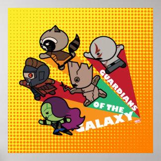 Les gardiens de Kawaii du groupe de galaxie Poster