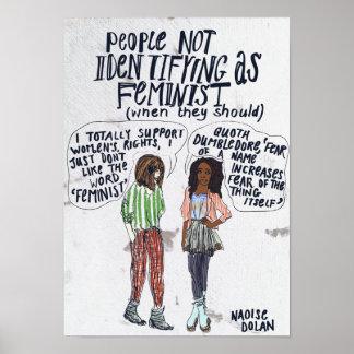 Les gens n'identifiant pas en tant que féministe