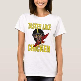 Les goûts des femmes aiment le T-shirt de poulet