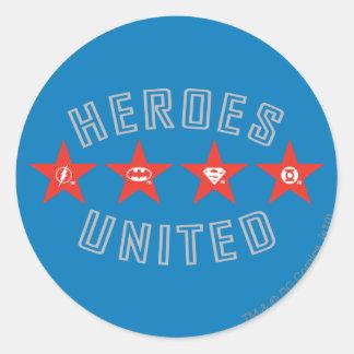 Les héros de ligue de justice ont délié des logos sticker rond