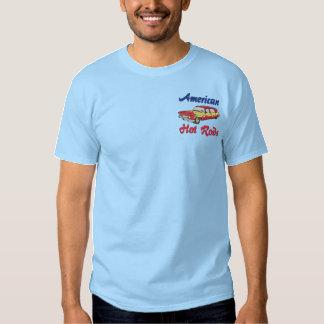 Les hot rod américains ont brodé la chemise  t-shirt brodé