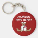 Les infirmières d'ours ont le T-shirts et les cade Porte-clé