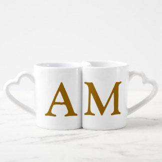 les initiales de couples personnalisées mug
