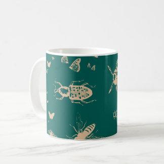Les insectes modèlent, vert opale profond mug