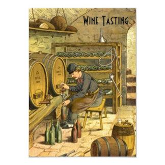 Les invitations de partie d'échantillon de vin de