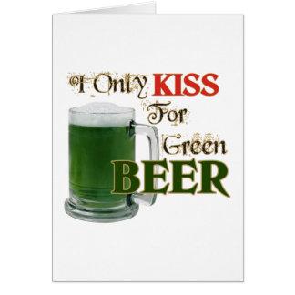 Les Irlandais embrassent 4 la bière - St Patrick Carte De Vœux