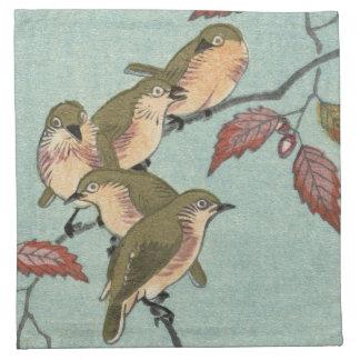 Les JAPONAIS IMPRIMENT la serviette VERTE de tissu