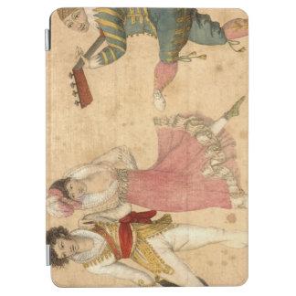 Les jeunes dansant et chantant, dessin vintage protection iPad air