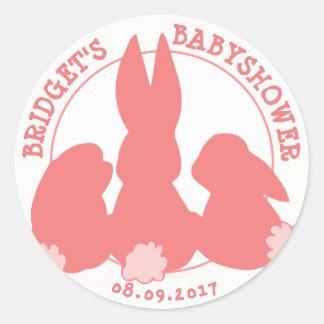 Les lapins mignons ont personnalisé l'autocollant sticker rond