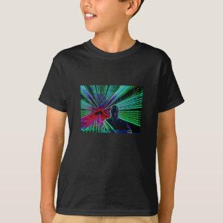 Les lasers sur le DJ badine le T-shirt