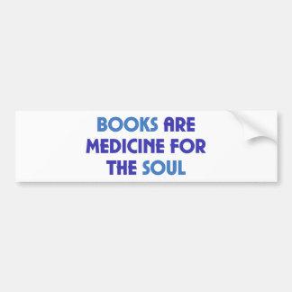 Les livres sont médecine pour l'âme autocollant de voiture